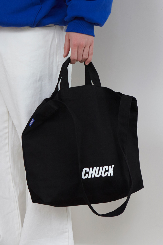CHUCK LOGO CANVAS 2WAY BAG (BLACK)