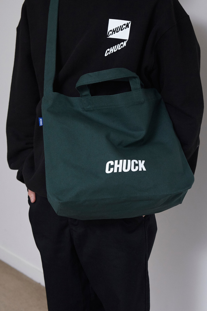 CHUCK LOGO CANVAS 2WAY BAG (GREEN)