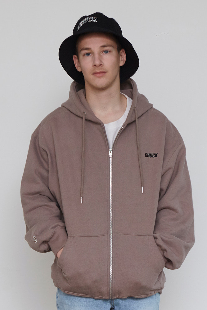 18FW CHUCK LOGO HOOD ZIP UP (BEIGE)