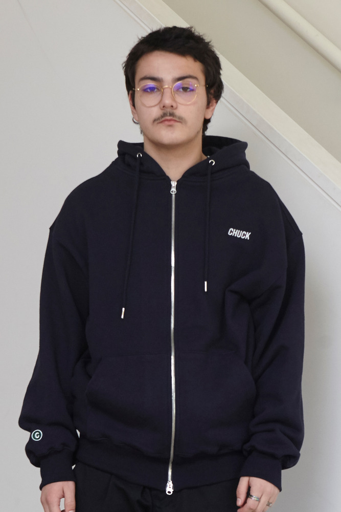 18FW CHUCK LOGO HOOD ZIP UP (NAVY)