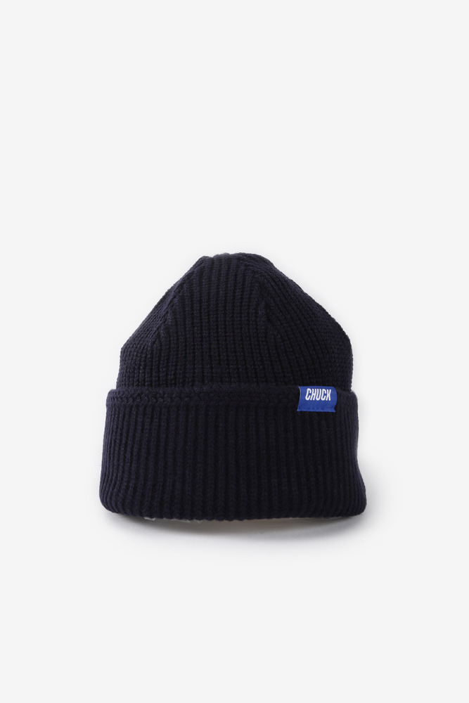 CHUCK LOGO POINT LABEL BEANIE (NAVY)