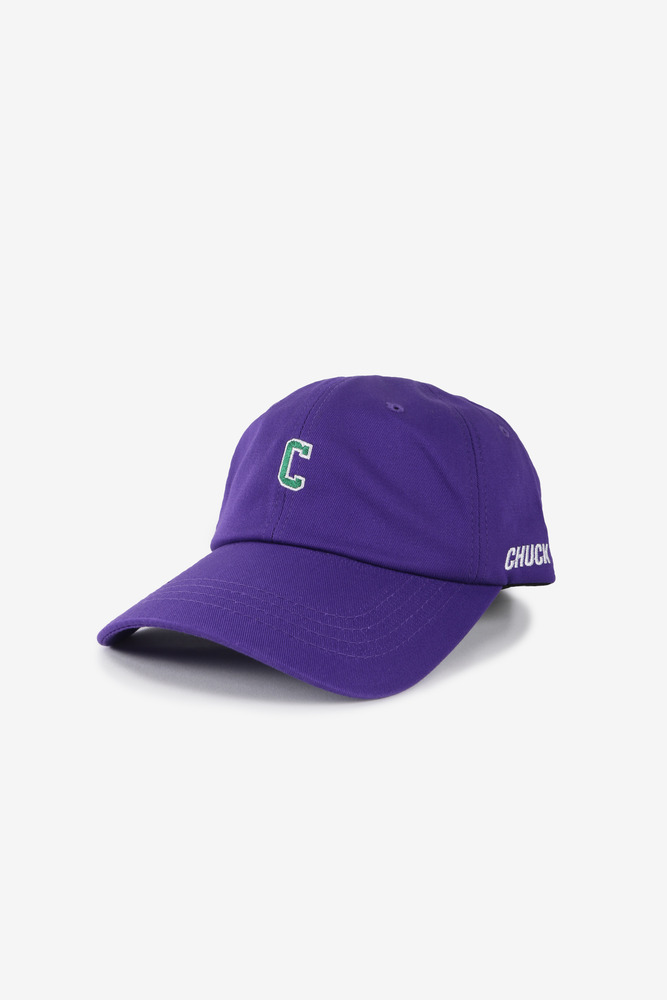 C ARCH LOGO BASEBALL CAP (PURPLE)