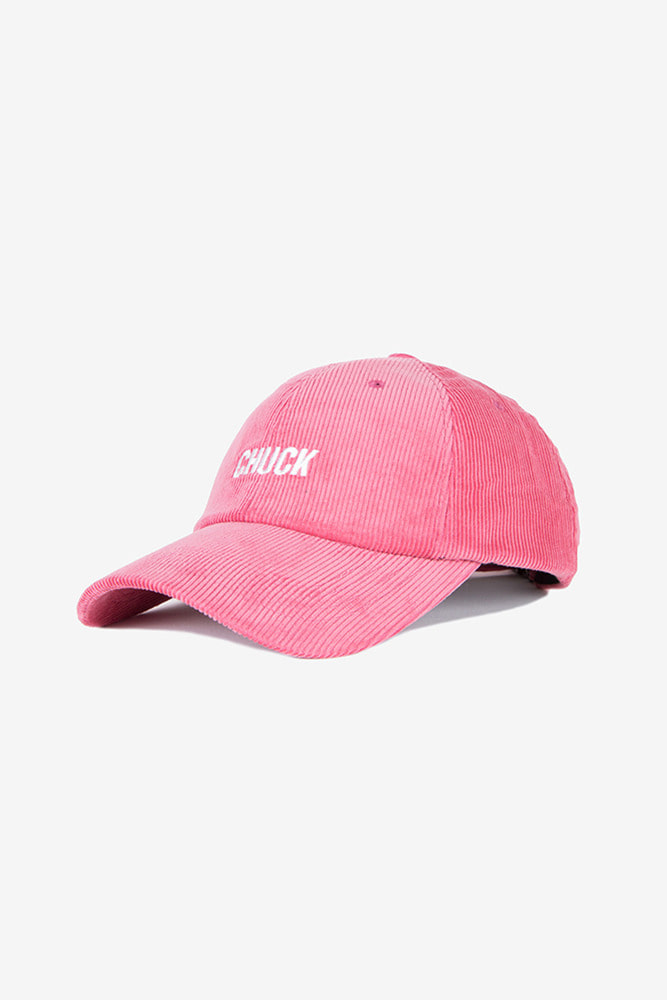 corduroy baseball cap (hot pink)