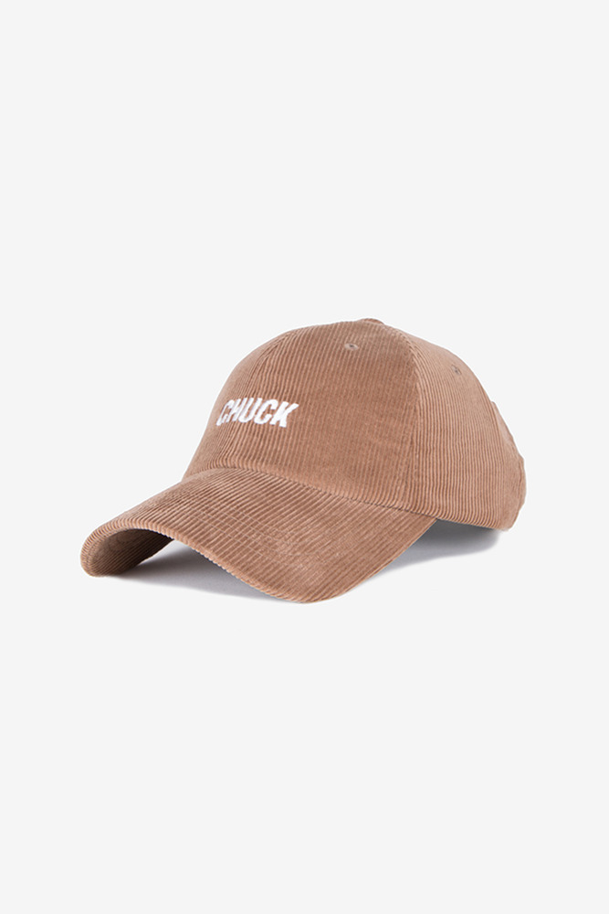 corduroy baseball cap (brown)