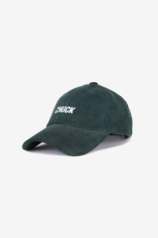 corduroy baseball cap (deep green)