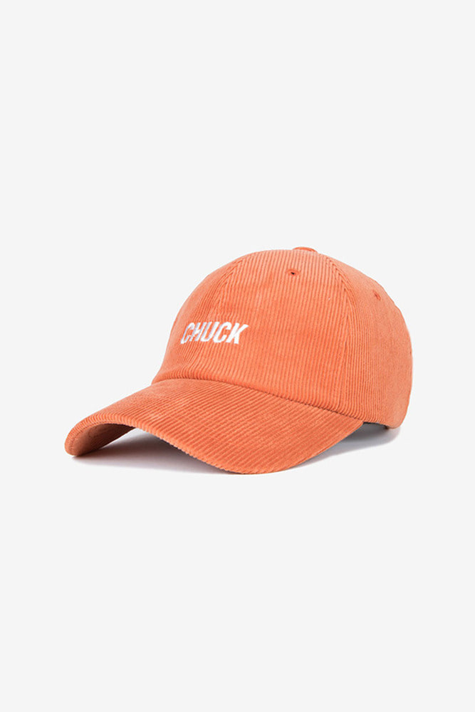 corduroy baseball cap (orange)
