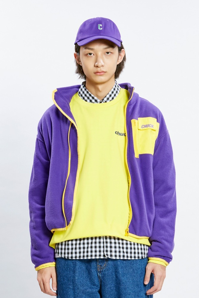 18 WINTER CHUCK SHERPA FLEECE ZIPUP (PURPLE)