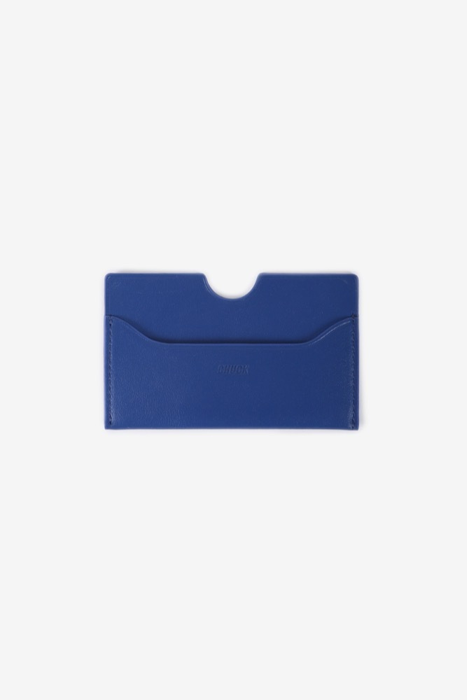 CHUCK LEATHER CARD WALLET (BLUE)