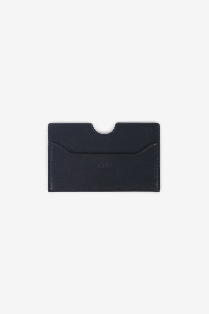 CHUCK LEATHER CARD WALLET (NAVY)