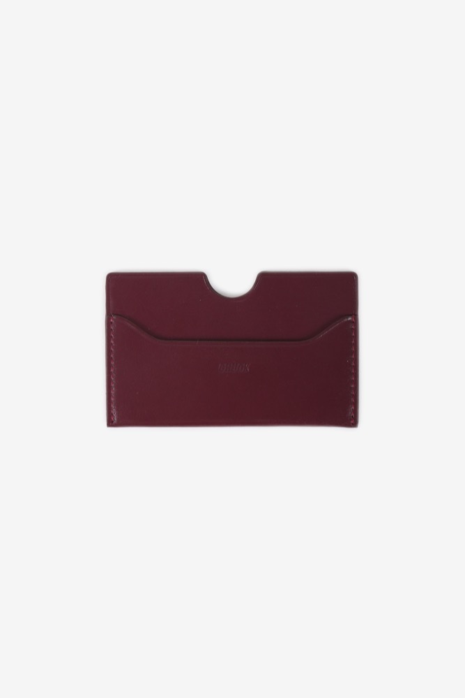 CHUCK LEATHER CARD WALLET (WINE)