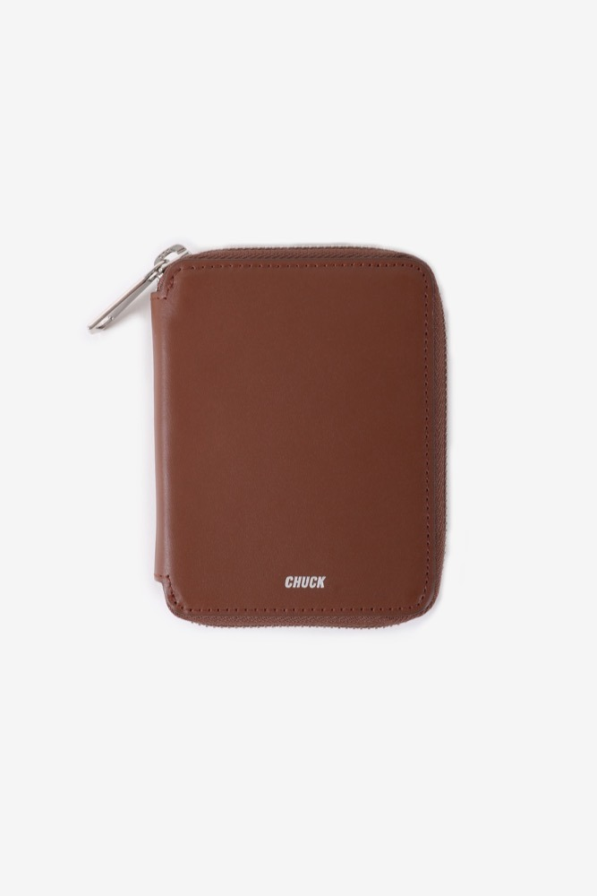 CHUCK LEATHER ZIPPER WALLET (BROWN)