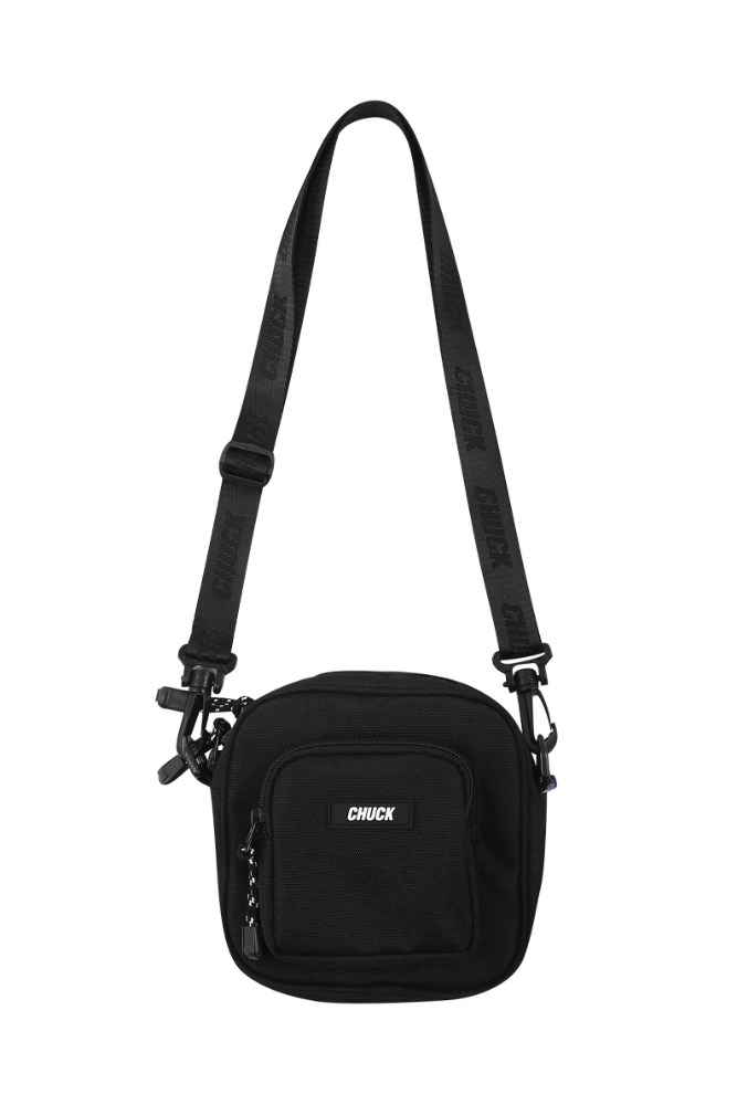 19 SUMMER CHUCK CORDURAⓇ SQUARE BODY CROSS BAG (BLACK)