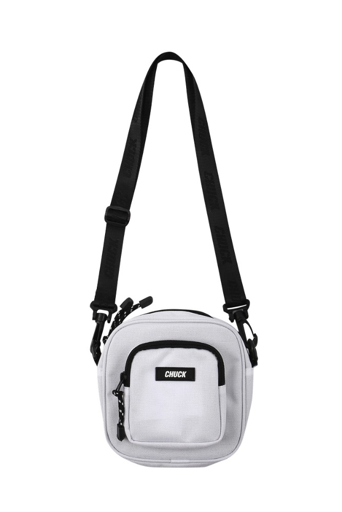 19 SUMMER CHUCK CORDURAⓇ SQUARE BODY CROSS BAG (WHITE)