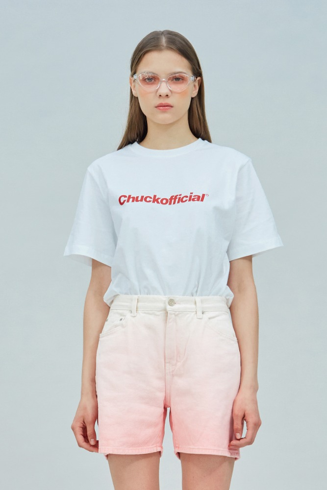 19 SUMMER CHUCKOFFICIAL LOGO T-SHIRT (WHITE)