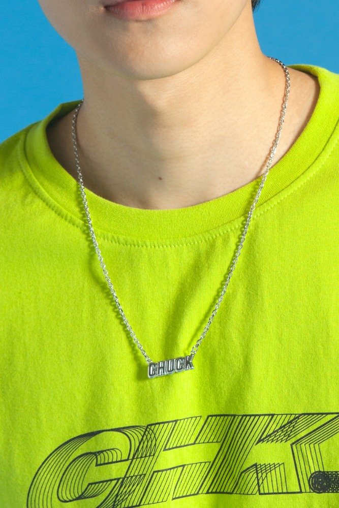 CHUCK LOGO NECKLACE (SILVER)