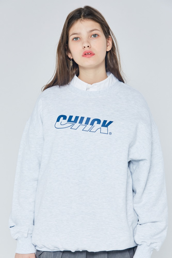 [블프한정] 19FW CHUCK MIXED LOGO SWEATSHIRT (LIGHT GRAY)