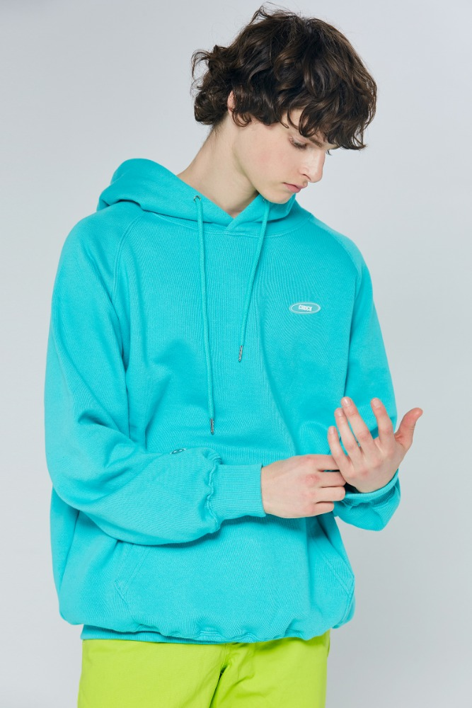 19FW CHUCK RUBBER LABEL HOODIE (EMERALD GREEN)