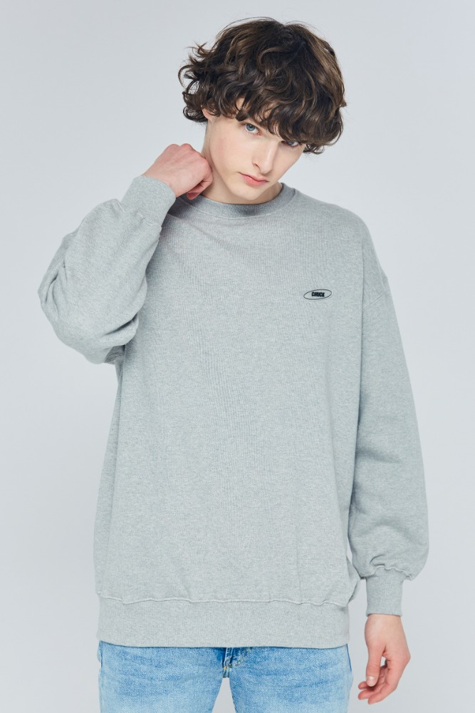 19FW CHUCK RUBBER LABEL SWEATSHIRT (GRAY)