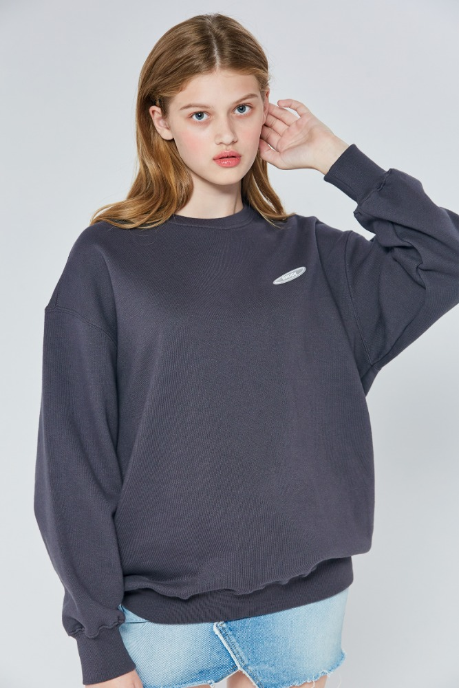19FW CHUCK RUBBER LABEL SWEATSHIRT (CHARCOAL)