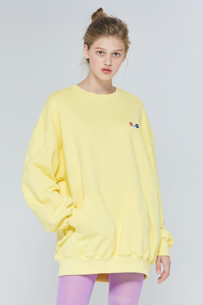 [블프한정] 19FW CHUCK 3C LOGO POCKET SWEATSHIRT (YELLOW)
