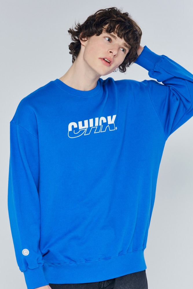 [블프한정] 19FW CHUCK MIXED LOGO SWEATSHIRT (BLUE)