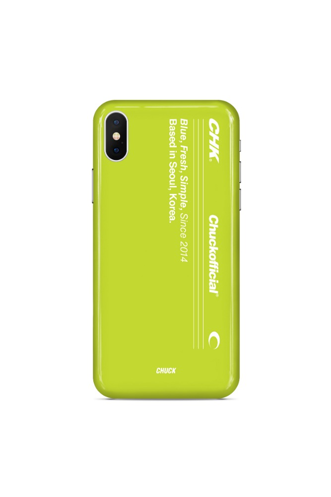 CHUCK VERTICAL LOGO CASE (LIME)