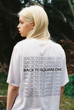 BACK TO SQUARE ONE TEE - WHITE