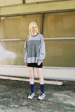 SQUARE COLORATION LONG SLEEVE T - GRAY