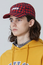[한정수량] CHECK PATTERN BASEBALL CAP (RED)