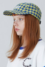 [한정수량] CHECK PATTERN BASEBALL CAP (YELLOW)