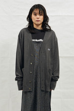 18SS LONG SLEEVE KNIT CARDIGAN (DEEP GRAY)