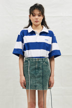 18SS CHUCK RUGBY H-SLEEVE SHIRT (WHITE&BLUE)