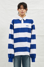 18SS CHUCK RUGBY L-SLEEVE SHIRT (WHITE&BLUE)