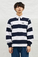 18SS CHUCK RUGBY L-SLEEVE SHIRT (WHITE&NAVY)