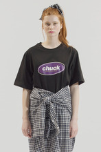 18SS CHUCK COLOR OVAL LOGO T-SHIRT (BLACK)