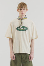 18SS CHUCK COLOR OVAL LOGO T-SHIRT (CREAM)