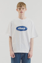 18SS CHUCK COLOR OVAL LOGO T-SHIRT (WHITE-BLUE)