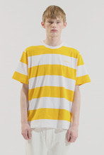 18SS CHUCK STRIPE T-SHIRT (WHITE&YELLOW)