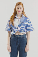 18SS CHUCK LOGO H-SLEEVE STRIPE SHIRT (BLUE)