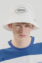 18SS CHUCK OVAL LOGO BUCKET HAT (WHITE)