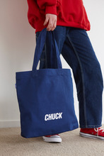 CHUCK LOGO CANVAS SHOPPER BAG (BLUE)
