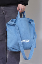 CHUCK LOGO DENIM 2WAY BAG (SKY)