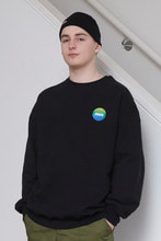 18FW CHUCK GRADATION LOGO SWEATSHIRT (BLACK)