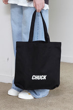 CHUCK LOGO CANVAS SHOPPER BAG (BLACK)