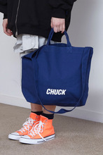 CHUCK LOGO CANVAS 2WAY BAG (BLUE)