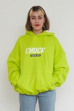18FW CHUCK SIGNATURE LOGO HOODIE (LIME)