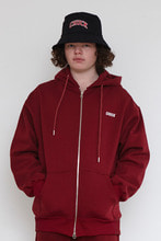 18FW CHUCK LOGO HOOD ZIP UP (BURGUNDY)