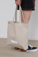 CHUCK LOGO CANVAS SHOPPER BAG (BEIGE)