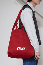 CHUCK LOGO CANVAS 2WAY BAG (RED)