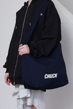 CHUCK LOGO CANVAS 2WAY BAG (NAVY)